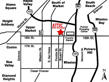 AAA Attic Self Storage 2440 16th St San Francisco, CA - Photo 2