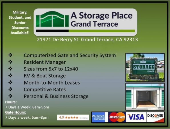 A Storage Place - Grand Terrace 21971 De Berry Street Grand Terrace, CA - Photo 4