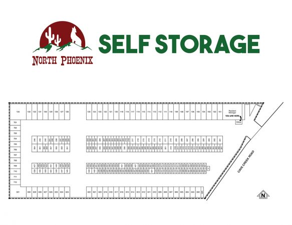 North Phoenix Self Storage 9850 North Cave Creek Road Phoenix, AZ - Photo 1