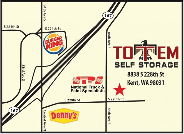 Totem Self Storage 8838 South 228th Street Kent, WA - Photo 2