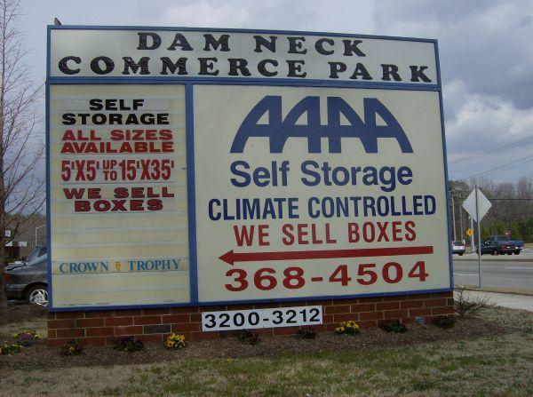Aaaa Self Storage Amp Moving Virginia Beach 3212 Dam